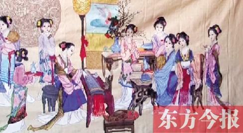 南阳西峡农妇2年633万针 绣 活 18位古典美人