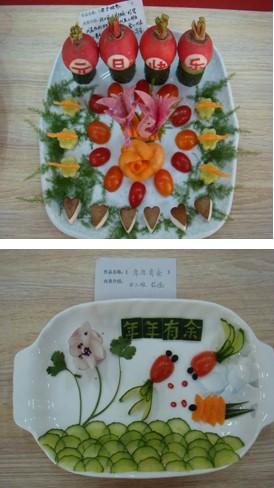 幼儿园果蔬拼盘图片