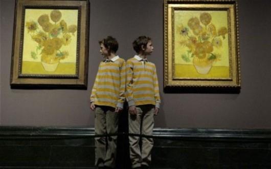 梵高两幅 向日葵 65年来首次同时展出