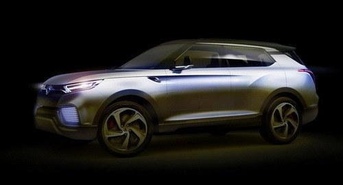 双龙汽车XLV概念SUV车型的设计草图-七座空间 曝双龙XLV概念车亮