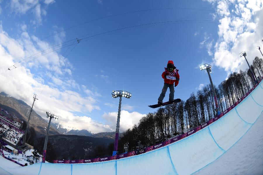 (冬奥会)(1)单板滑雪——男子u型场地技巧:张义威