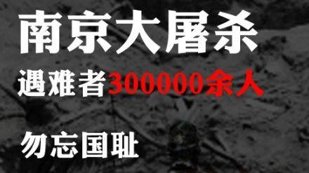 12月13日拟定南京大屠杀死难者公祭日