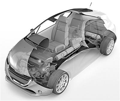 法国研制出空气混合动力汽车 2016年将量产 高清图片