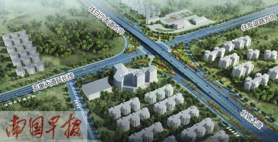 南宁市五象大道两座立交桥开工 预计今年8月通车图片