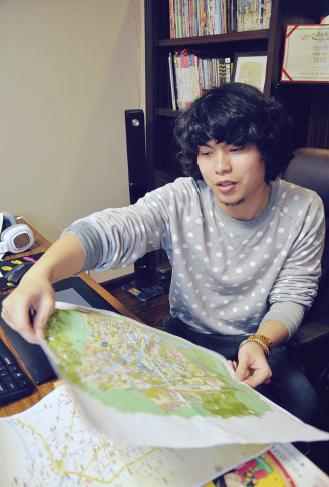 乐清手绘地图走红 网友点赞好萌好3d