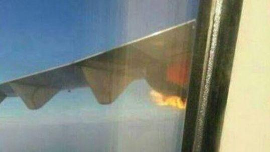 马来西亚航班再出事故:飞机高空起火