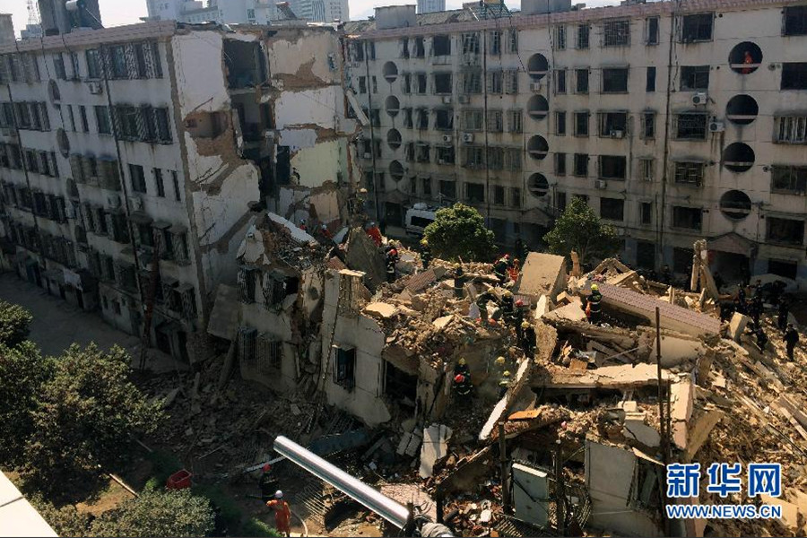 奉化一居民楼突然倒塌 已救出5人