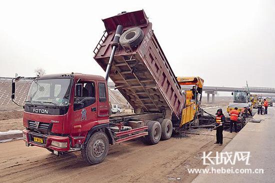 清明春暖好时节 河北高速公路石安段施工掀高潮