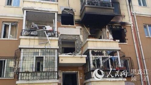 哈尔滨一居民楼发生爆炸致3人受伤
