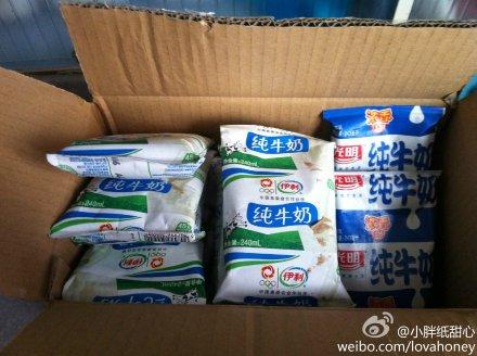 天猫超市购整箱牛奶 5天收到变杂牌散装