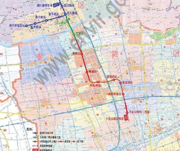 """5号线南延伸段获""""准生证"""" 设8站串联闵行奉贤"""