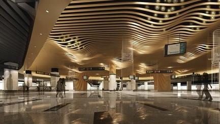 """12号线公布在建站效果图 或首现""""土豪金""""车站"""