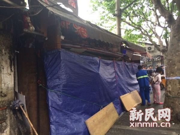 虹口居民楼倒塌续:居民称周边租户多 占道经营严重