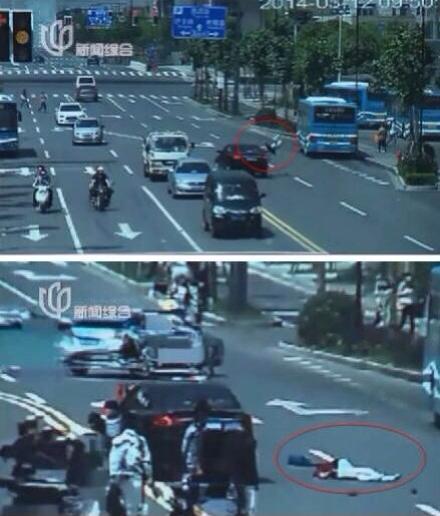 嘉定:孕妇乱穿马路被撞飞 急救产下女婴