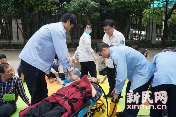 浦东新区举行重大突发事件应急救援演练