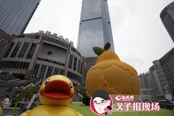 展览一周半数小黄鸭被