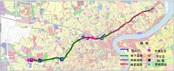上海北横通道正式启动建设 全长19.4千米跨越六区