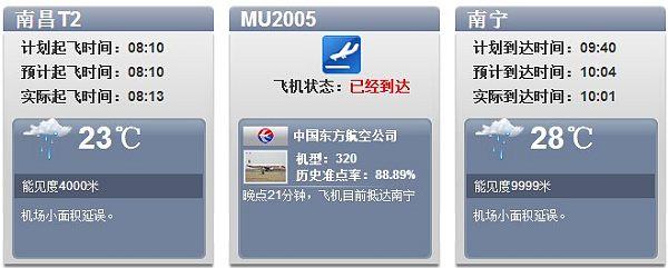 东航一架A320客机南宁机场误降滑行道