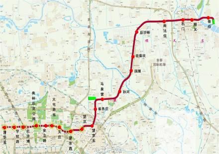 北京地铁15号线一期西段12月底开通试运营图片