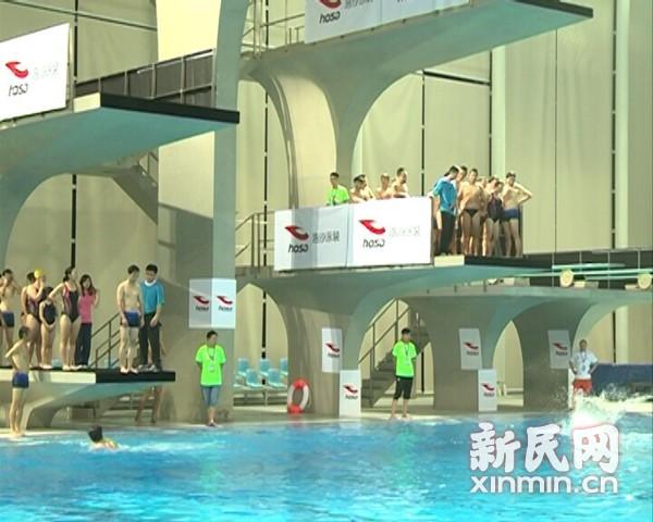 相约泳池比比胆量 申城今夏市民跳水受追捧