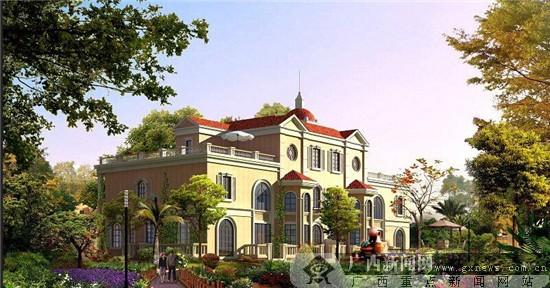"""建筑整体布局呈""""豪华游艇""""形状,搭配欧式风情景观,罗马的雕塑"""