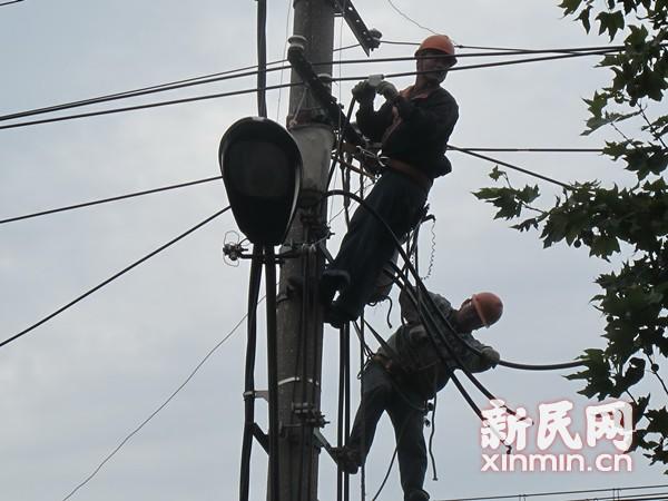 电线被盗割  普陀一小区近百户居民家用电器烧坏