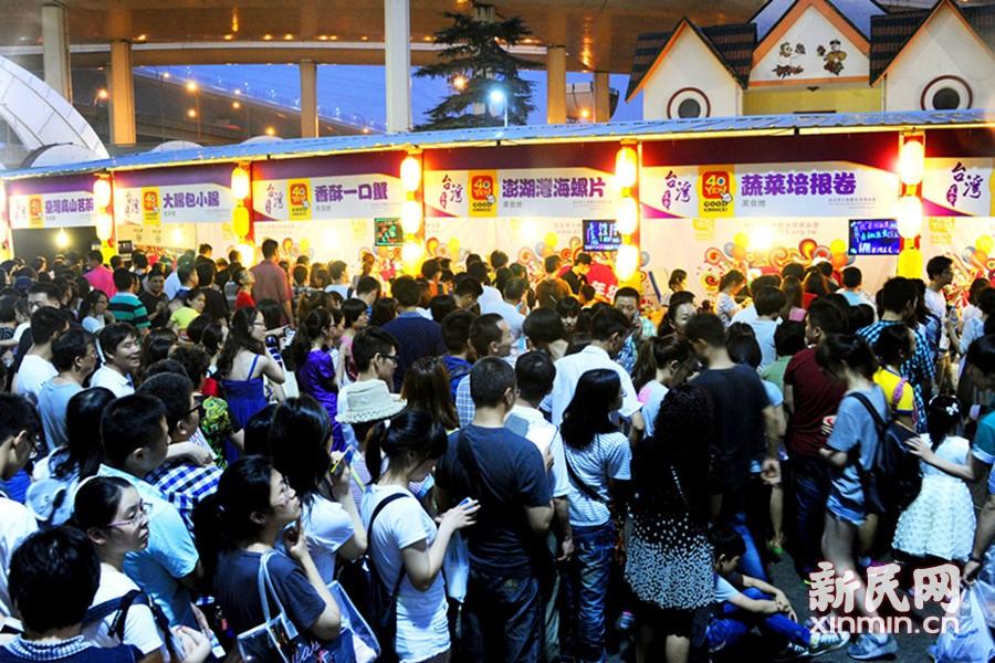 台湾士林夜市美食爆火申城