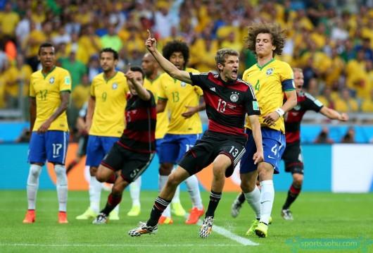 技术统计:巴西半场16射难挽惨败 德国7球屠杀