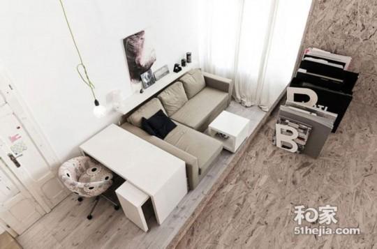 设计 公寓/29㎡优雅小户型隔层设计秒变loft