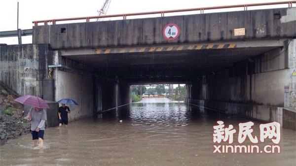 入汛来最强降雨昨袭申城 嘉定松江部分下立交现积水