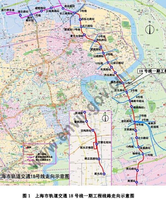 18号线一期设站26座跨三区  2020年有望通车