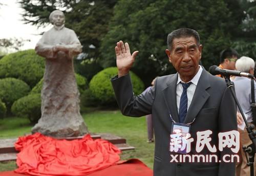 霍元甲雕像在上海精武体育公园揭幕