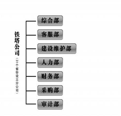 有限公司(俗称铁塔公司)已经确定了公司的构架方案