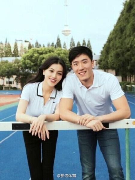 刘翔今天领证! 微博公布新娘照片