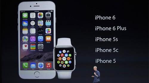苹果发布iPhone6/iPhone6 Plus 智能手表同台亮相