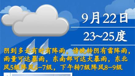 """""""凤凰""""逼近带给申城大风降雨 傍晚起有暴雨"""