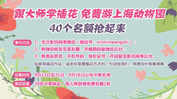 上海动物园看蝴蝶飞舞 40个名额抢起来