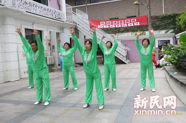 【太极在社区】记徐汇区凌云街道武术队的敬老活动