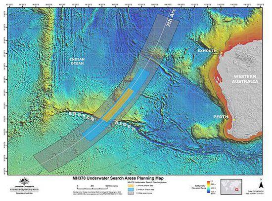mh370的调查员透露,截至目前,mh370的搜寻可能找错地方了.高清图片