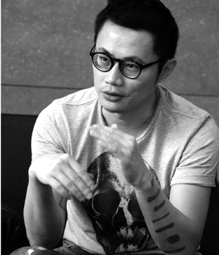台湾平面设计师聂永真昨在杭开讲座图片