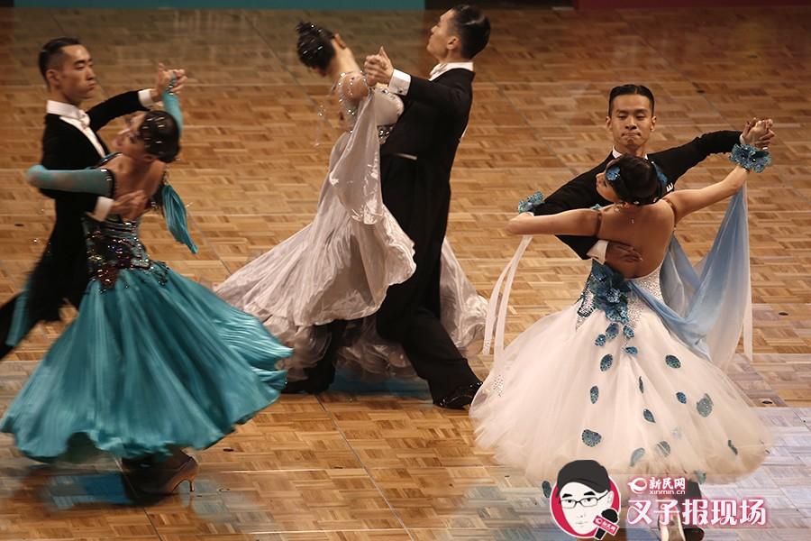 舞者在比赛中。新民网 萧君玮 摄