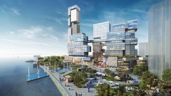 上海长滩观景塔区域建筑方案公布 网络评选赢Iphone6