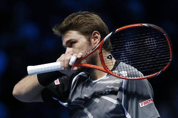 图文:ATP年终总决赛首轮瓦林卡获胜 思索对策