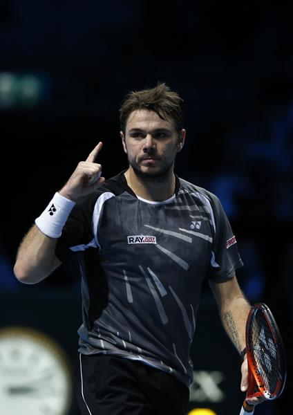 图文:ATP年终总决赛首轮瓦林卡获胜 自信满满