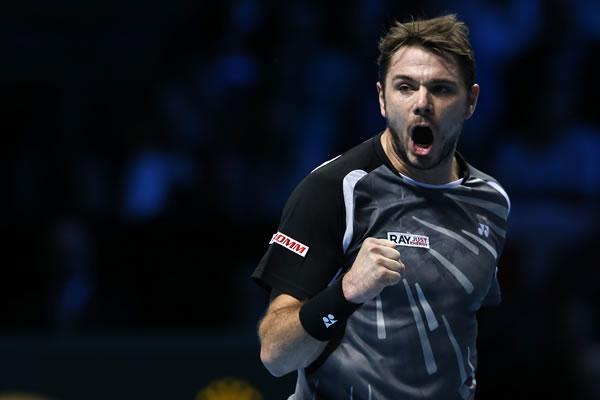 图文:ATP年终总决赛首轮瓦林卡获胜 握拳怒吼