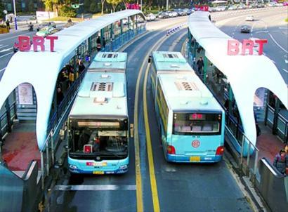 沪首条BRT进入施工前期 最大人工湖本月注水
