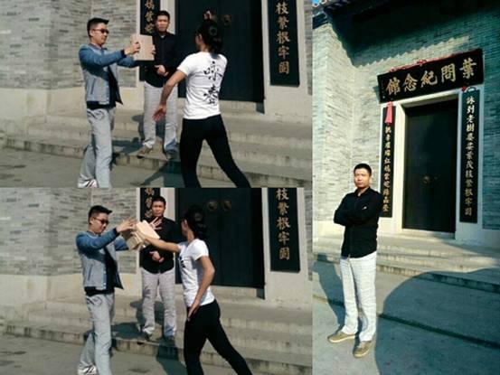 """为了传播公益,倡导文明,青年武术家""""铁腿哥""""齐虎到咏春拳一代名师叶问图片"""
