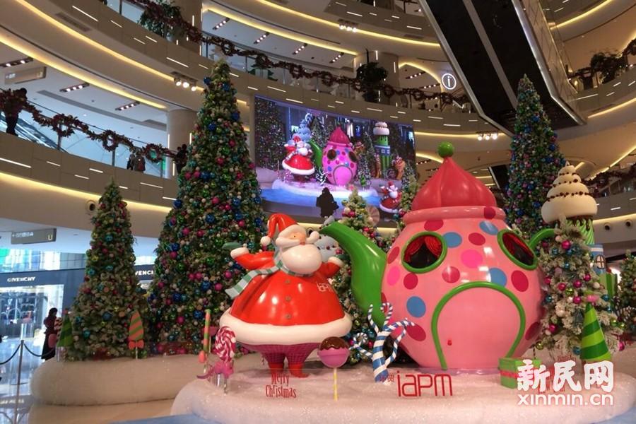 圣诞童话王国藏身申城时尚商场