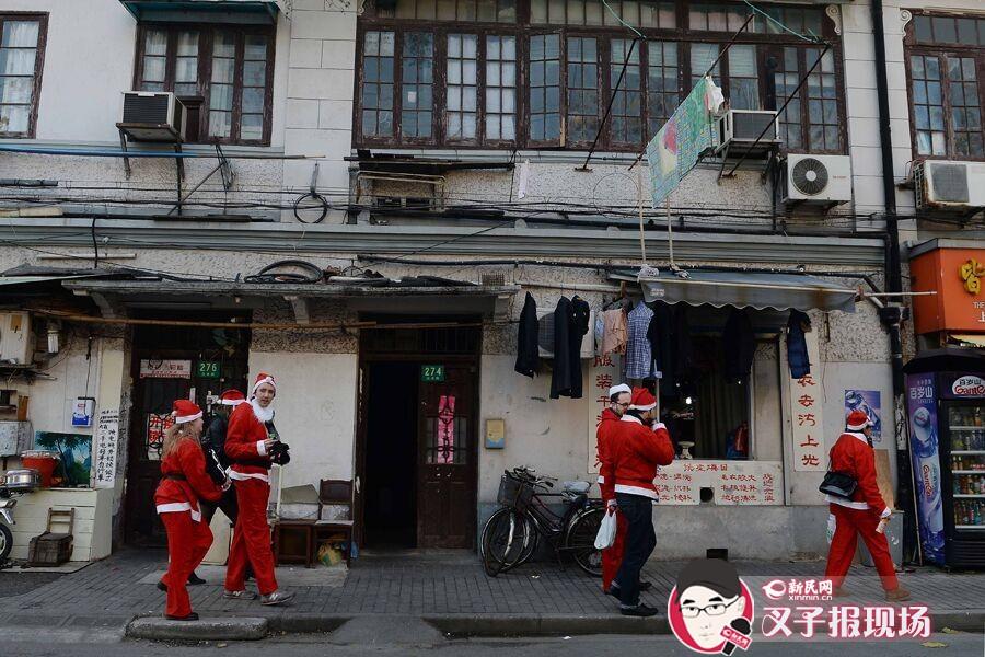 注意!一大波圣诞老人出没上海老城厢