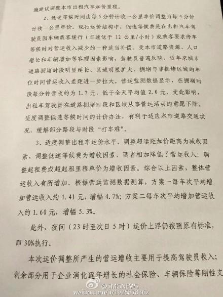 上海出租车调价方案听证 两方案供选